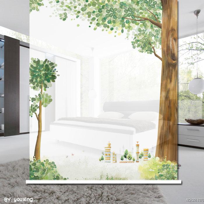Big tree roller shutter custom size for roller shade kitchen curtain fabric curtain(China (Mainland))