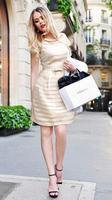 vestidos femininos 2015 Women Round Neck Short Sleeve Striped Casual Dress Summer Black White OL Office Work Dress Plus Size