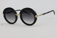 Black Plate Frame Unisex Sunglasses Z0520 Retro patterns Elegant Cute Fashion wild  Gradient Lens Anti-UV 400