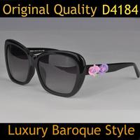Hot Brand Designer Original Women Rose Flower Sunglasses D4184 Baroque Sun Eye Glasses Oculos Do Sol Feminino Brand Sunglasses