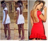 2015 peplum dress sexy party dresses club top women clubwear dress red and white beading sexy club bodydress plus size