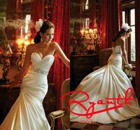 RBW076 Vestido De Festa Longo Sweetheart Mermaid Wedding Dress 2015 Elegant Long Bridal Gown Cheap Wedding Dresses