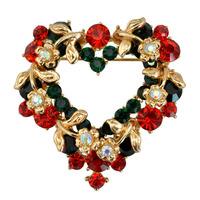 Christmas Gift Valentine's Gift Love Heart Garland Brooch