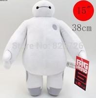 Free Shipping 38CM Big Hero 6 Baymax SOFT PLUSH TOY DOLL High Quality Christmas gift for children YI-328