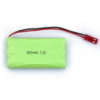 Wholesale New 7.2V 600mAh 6x 2/3AAA NiMH Rechargeable Battery Pack for Car Toys