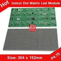 Shenzhen Indoor F3.75 P4.75 Single Red Color LED Dot Matrix Module 304*152mm 64*32 Pixels for LED Sign Board,Advertising