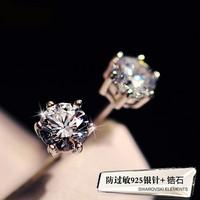 Free Shipping Fashion 6mm Lady 100% 925 Sterling Silver Amethyst Fine Jewelry Ear Stud Earrings, HOT SALE