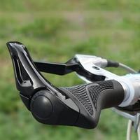 2 Colors Bicycle Bike MTB Components Bar ends Handlebars Rubber Grips & Aluminum Barend Handle Bar Ergonomic Push On Soft Grips