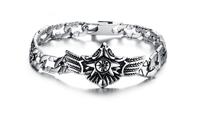 2015 Fashion Best Man Bracelet Silver AAA Chain Men Jewelry Motorcycle Chain 316L Stainless Steel Bracelet 3pcs/lot,BC1676