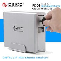 "ORICO Aluminium 1Bay 3.5"" 3.5 Inch e-SATA Hard Drive Disk Box USB 3.0 External HDD Enclosure"