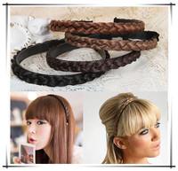Hot selling!! Korean Fashion Wig Hair Bands Tails Wave Hairpin Hair Band Headband Accessories