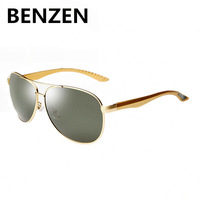 2015 Sunglasses Men Polarized  Oculos Glasses Classia Alloy Aviator Sun Glasses With Case 9056