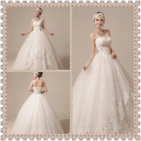 2014 autumn new top grade classical  wedding gown  ceremonial dress