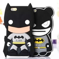 Hot selling Cartoon TV Batman Bat Man Logo mobile phone case soft silicone Back cover Skin Shell for iPhone 6 plus