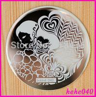 Free Shipping   Stamping Nail Art  8pcs/lot  hehe040  Stamping Image Plates