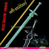 Sword Art Online Kirito Kirigaya Kazuto white sword DARK REPULSOR  weapon black & Standard Cosplay accessory 110CM with scabbard