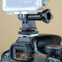 DSLR Hot Shoe Mount Adapter For GoPro HERO 3 2 1