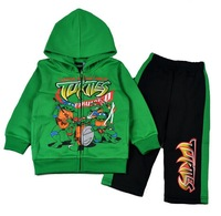 wholesale lot autumn children's winter clothing sets brand kids set turtles fleeced boys sports suit children boys hoodies+pants