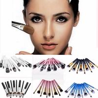 10Pcs New Professional Cosmetic Makeup Brush Set Foundation Powder Eyeshadow 8 Colors