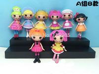 8pcs/lot 8cm MGA Lalaloopsy Doll button eye toys girl classic toys mini girl dolls Fashion Popular dolls girl gift Free ship
