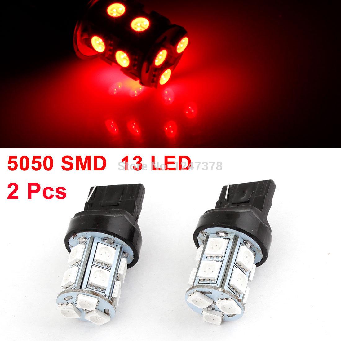 2 шт. 5050 СМД 7440 W21W 13 красный из светодиодов указатель поворота лампы для автомобилей автомобиля скидки до 50 светодиод тормозной набор механический дисковый задний cmd 21 clarks 3 448