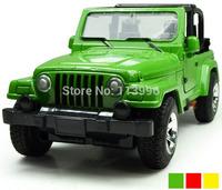 1:32 Jeep Wrangler Diecast Alloy Car Model Pull Back Open Door Cars Simulation Kids Toys