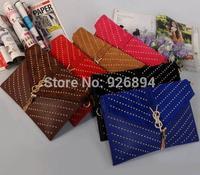 Fashion design LOGO metal rivets tassel bag ladies handbag evening bag personalized envelope casual shoulder bag purse wallet