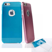 """Luxury Frosted Metal Aluminum + Plastic Back Case Cover For Apple iPhone 6 4.7"""" Plus 5.5"""" inch"""