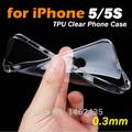 매우 얇은 투명 0.3mm 고무 실리콘 tpu 소프트 백 커버 케이스 아이폰 5 95 kimisohand kimisohand