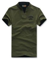 New Men's T Shirt Casual Solid  V-neck Cotton  Mens Short Sleeve T Shirt,T-shirt men Summner,4 Colors,Size M-3XL,7127