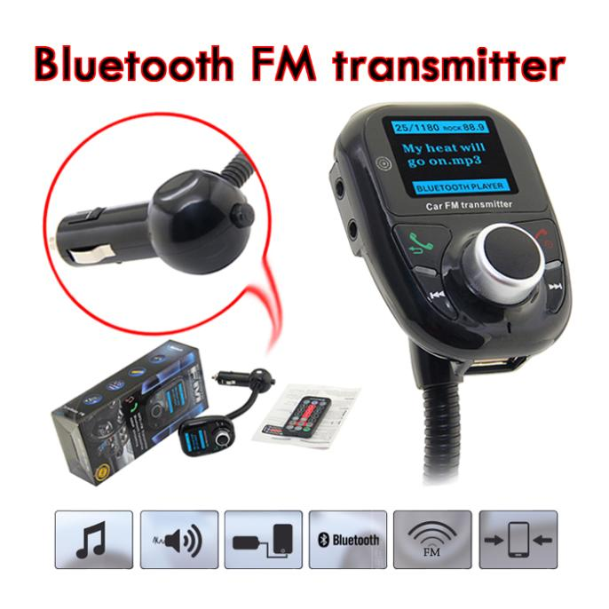 FM Modulator Bluetooth Car MP3 Audio Player Wireless FM Transmitter Car Kit Hands-Free Talk A2DP Car Battery Voltage Display New(China (Mainland))