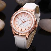 Leather Strap Women's Quartz Watches with Diamond Luxury Brand Dress Watch for Girls Ladies Wristwatch Best Gift Clock New