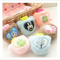 5pcs/lot Winter cute cartoon  flush hot water bag  plush warm water bag  hand warmers free shipping
