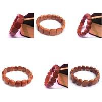 6pc mix designs gem Natural Golden Sand Stone  Nugget  beaded Stretchy bracelet bangle DCB28-30