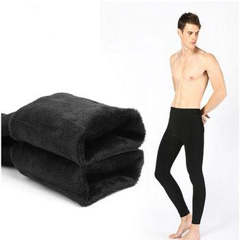 Зима тёплый мужчины большой кашемир леггинсы плотные мужчины кальсоны тёплый нижнее белье человек тепловой брюки
