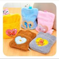 5pcs/lot sweet cartoon  rechargeable hand warmers plush mini hot water bags  portable hot water bottle