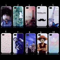 High quality cute cartoon Case foriPhone 4 /4s fashion painting style Cover Case for iphone 4 4siphone4s case Free Shipping