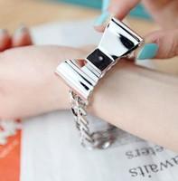 Bracelets Fashion jewelry popular fashion lady chain golden slivery bowknot option design