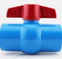 aquarium tube ball valve connector, blue color, inner diameter 32mm, for tube DIY