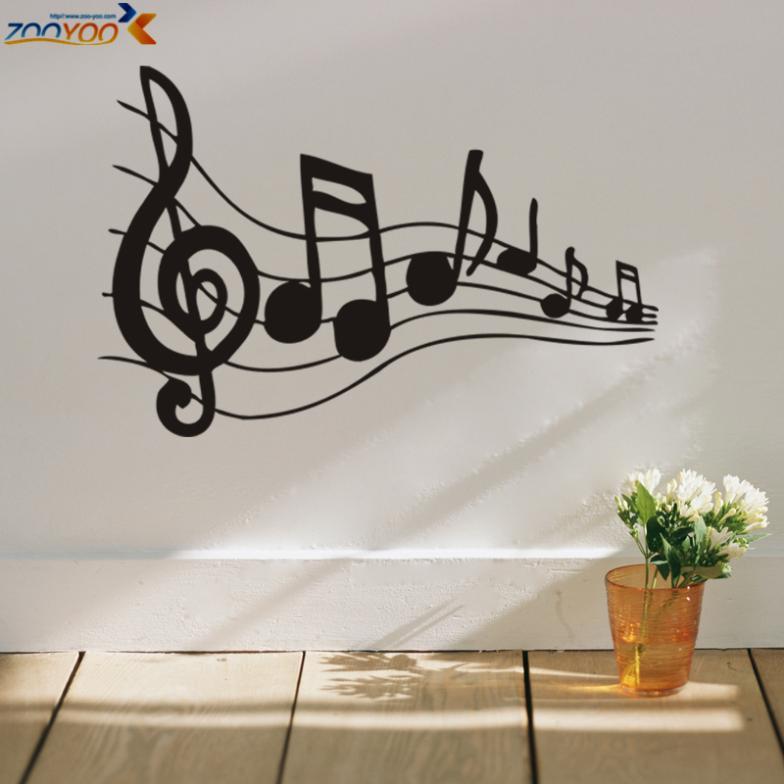 Fresque murale autocollante achetez des lots petit prix for Decoration murale note de musique