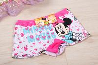 6pcs/lot 2014 new fashion children panties girls' briefs female child underwear lovely cartoon mickey panties children clothing