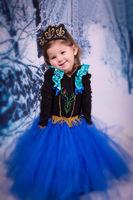 baby girls patchwork princess dress children Queen Elsa Anna long sleeve lace dresses flower girl party dress