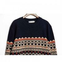 2014 New Folk Style Korean Leisure Loose Product Men Round Neck Sweater Knit Sweater