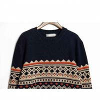 2014 New Folk Style Korean Leisure Loose Product Men Round Neck Sweater Knit Sweater