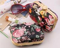 new arriving women bag oil painting clutch Peony rose party bag bolsa mini women wallets bolsas femininas 2014 messenger bags