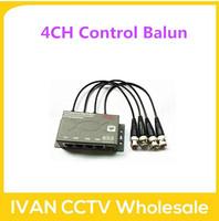 4CH Passive Video/Power/PTZ Control Balun VD Video Balun