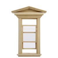 New 2015 1:12 Dollhouse Miniature Wooden Window w/ Two Plastic Slips DIY Accessory Free Shipping
