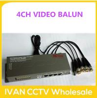 4CH Passive Video/Power/PTZ Control Balun (Power Supply)  Video Balun