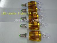 5pcs/lot LED Spotlight 8W AC90-260V E14 white/warm white Home lighting Super bright wholesale