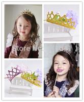 Wholesale 10pcs/lot 2015 New Cute Children Kids Girls Pearl Princess Hair Band Crown Headband Tiara P70